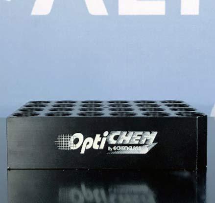 Chemglass 24-Position Block for 17 x 60mm 2 Dram (8mL) Flat Bottom Vials OP-6600-07 Image