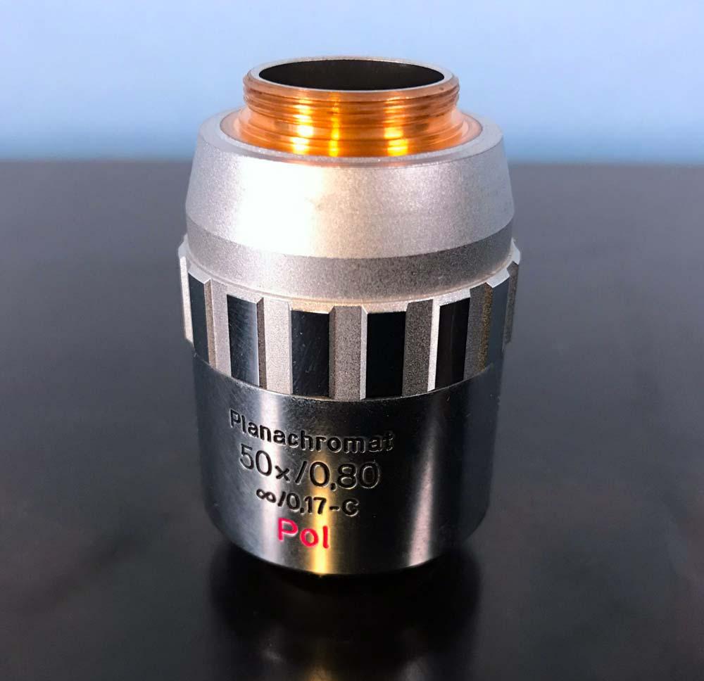 Aus Jena Microscope Objective, Planachromat 50x/0.80 0.17 -C Pol  Image