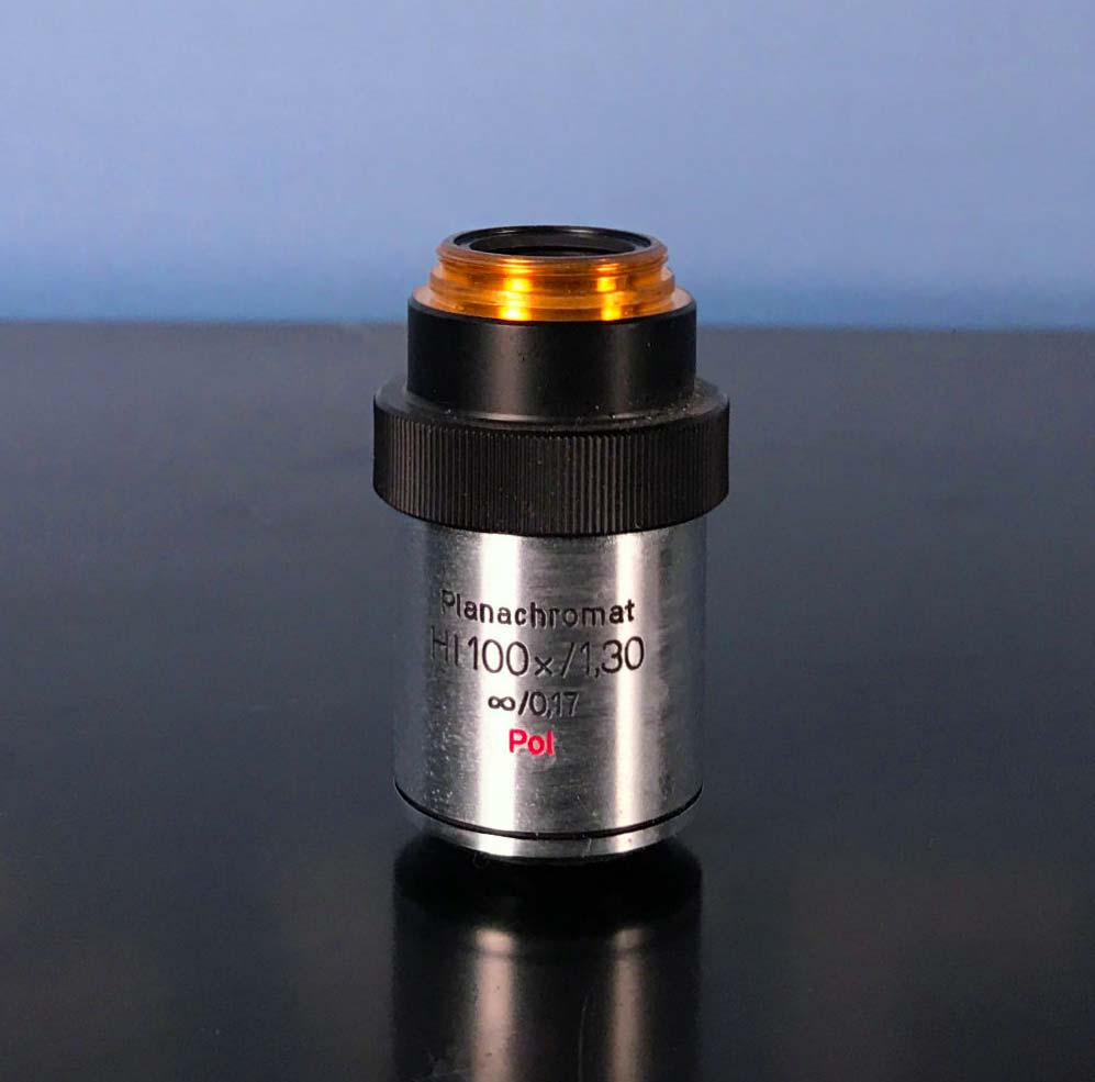 Aus Jena Microscope Objective, Planachromat HI 100x/1.30 0.17 Pol  Image