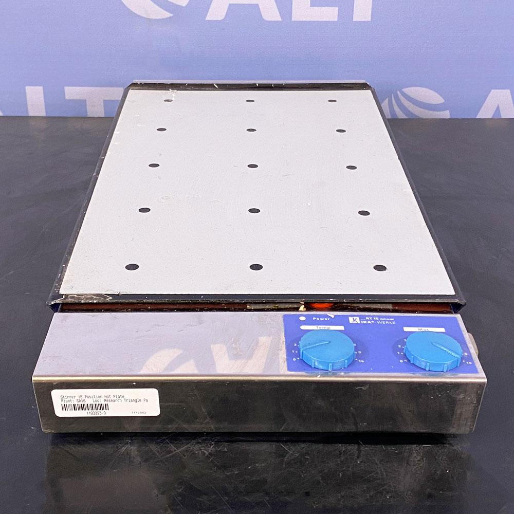IKA Werke 15 Position Magnetic Hotplate Stirrer, Model RT 15 power S1 Image