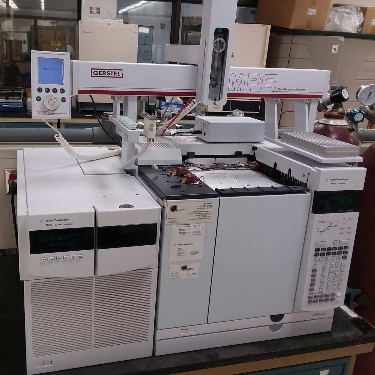Agilent 7890A GC System with 7000 GC/MS Triple Quadrupole and Gerstel MPS MultiPurpose Sampler Image