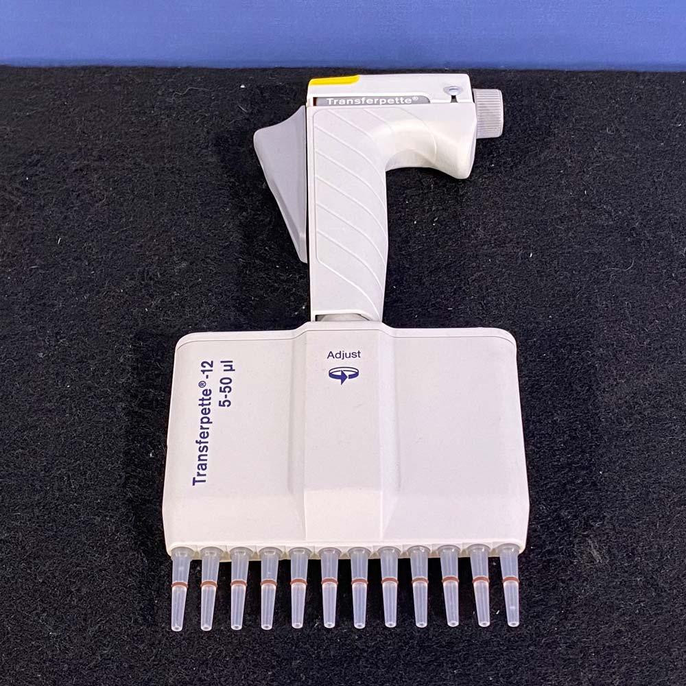 Brandtech Scientific Transferpette-12 Multichannel Pipette, 5-50uL Image
