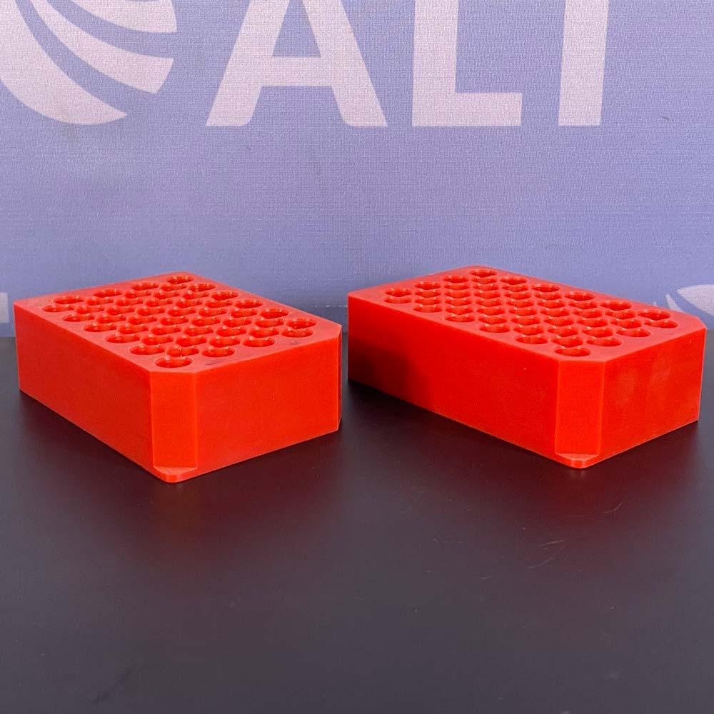 Mettler Toledo  48 Position 12x75 and 12x100 mm MiniBlock Racks P/N 13260398 (Set of 2 Red) Image