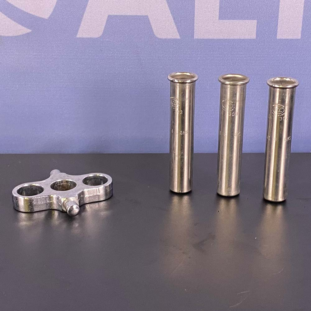IEC (Set of 3) 10mL Centrifuge Shields, Cat. 303, with a Trunnion Ring, Cat. 355 Image