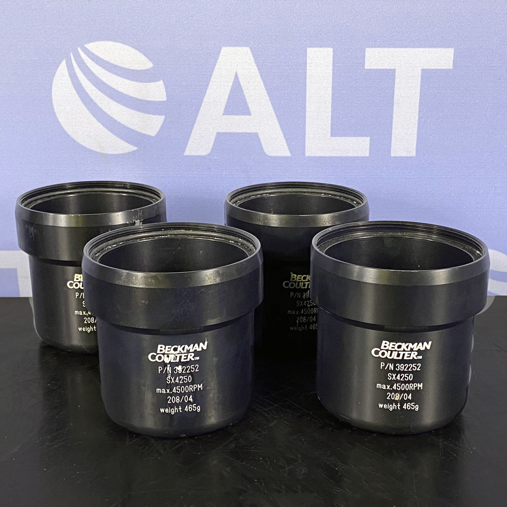 Beckman Coulter SX4250 Rotor Buckets, P/N 392252, Set of 4 Image