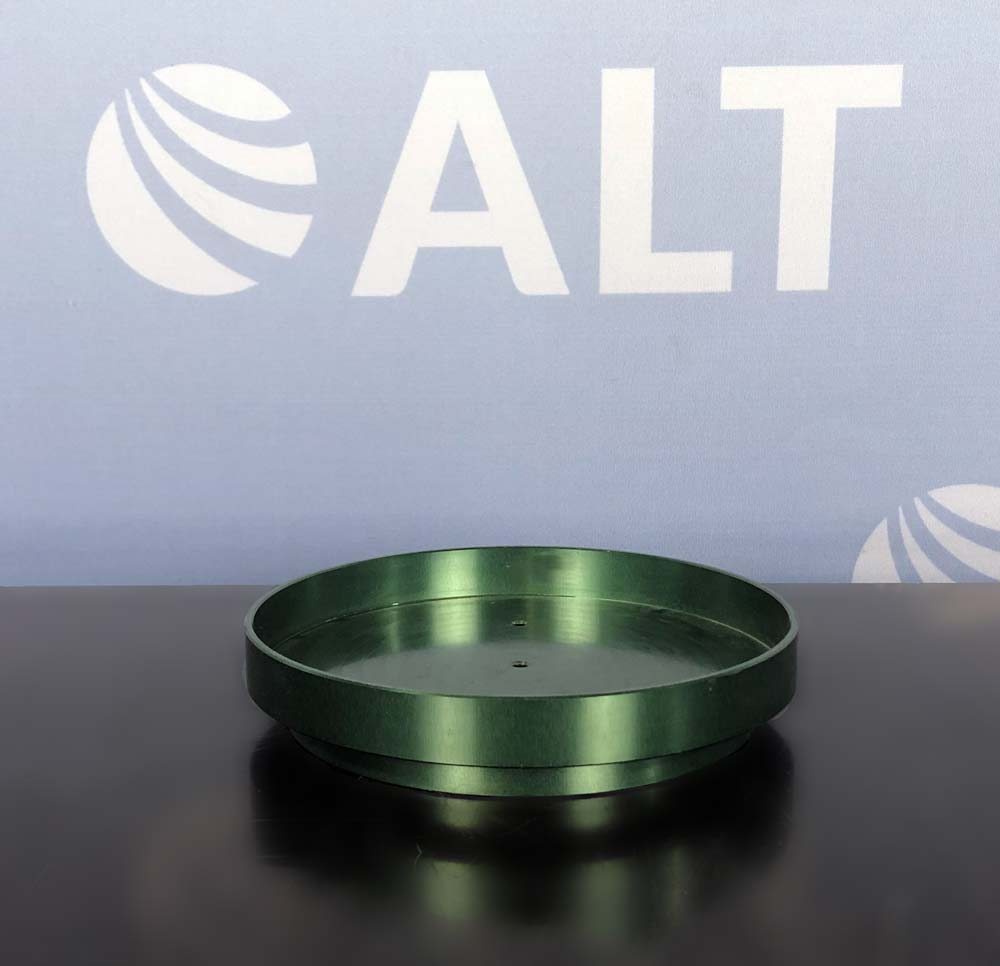 Chemglass PIE-BLOCK Safety Holder, Anodized Green P/N CG-1991-P-05 Image