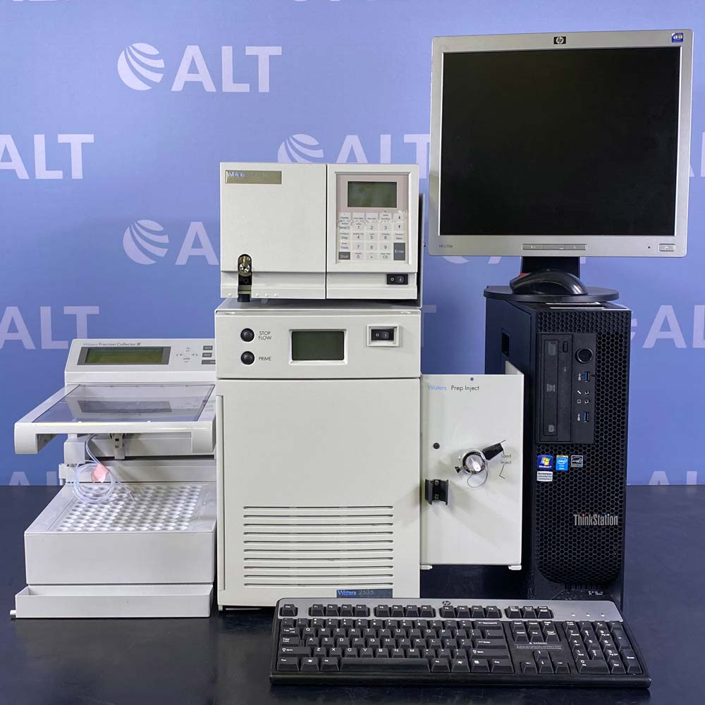 Waters Preparatory-LC System Featuring Waters 2535 Quaternary Gradient Module, Prep Injector, 2424 ELS Detector, and Fraction Collector III Image