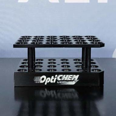 24-Position Block for 16 x 83mm 0.5-2mL Tapered Microwave Vials, Two Tier Design P/N OP-6600-20 Name