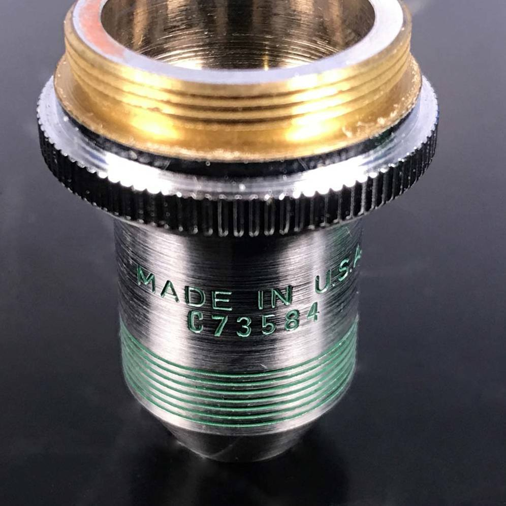 AO Spencer 10X N.A. .25 Microscope Objective Image