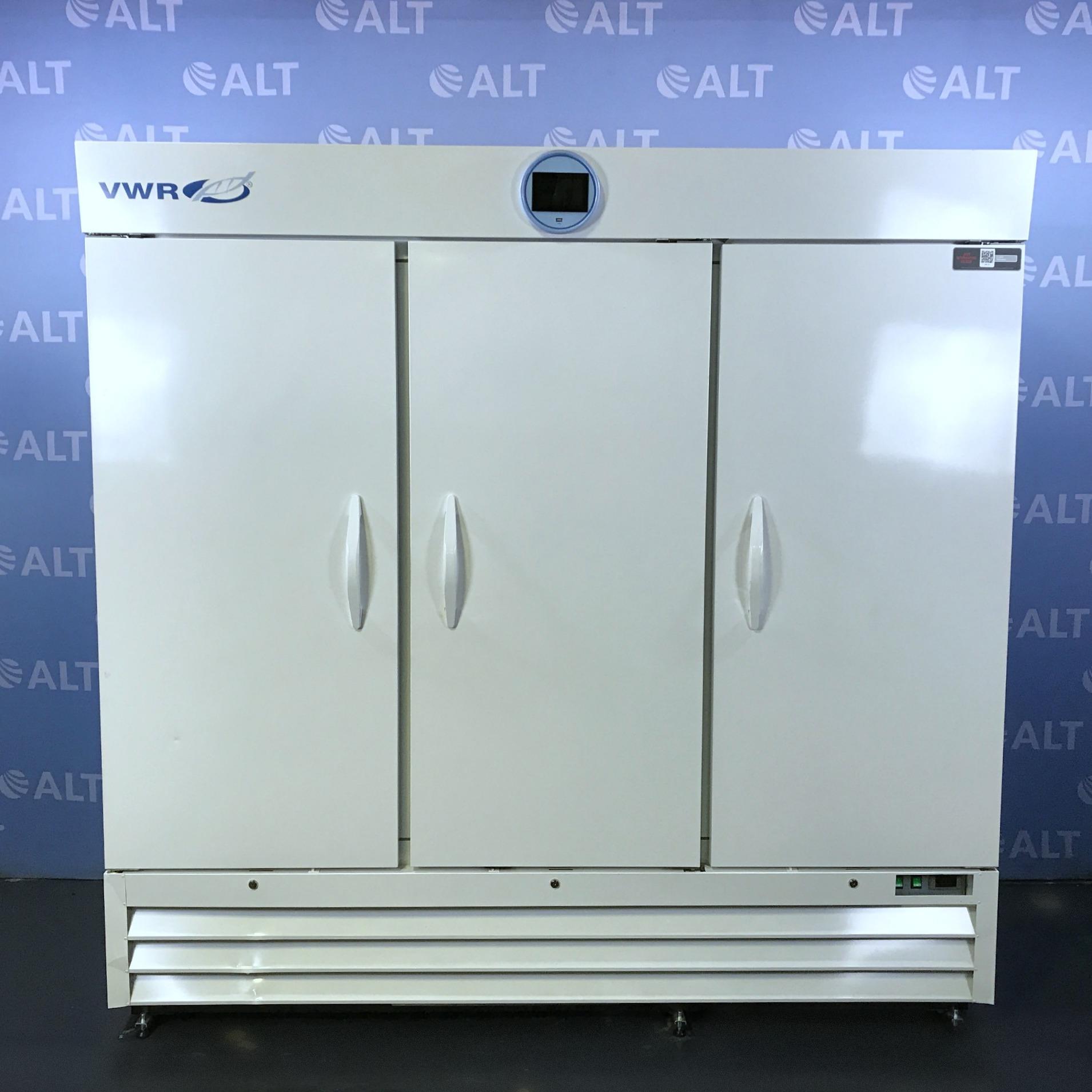 VWR Series Solid 3 Door Laboratory Refrigerator Model SLP-72-TS CAT No. 10820-362 Image