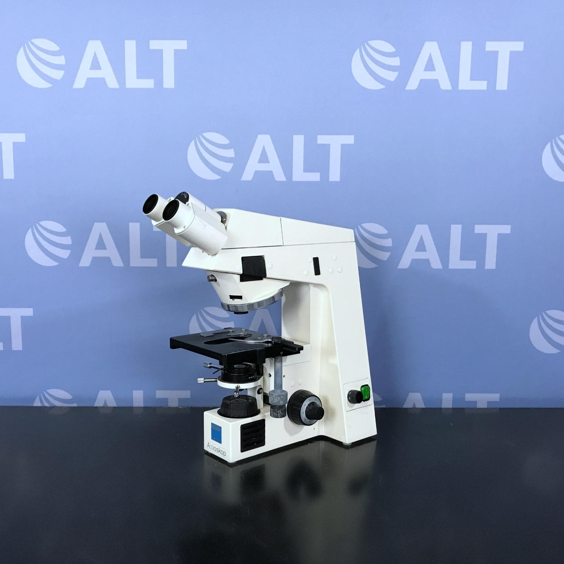 Carl Zeiss Axioskop EL-Einsatz Microscope  Model 45 14 87 Image