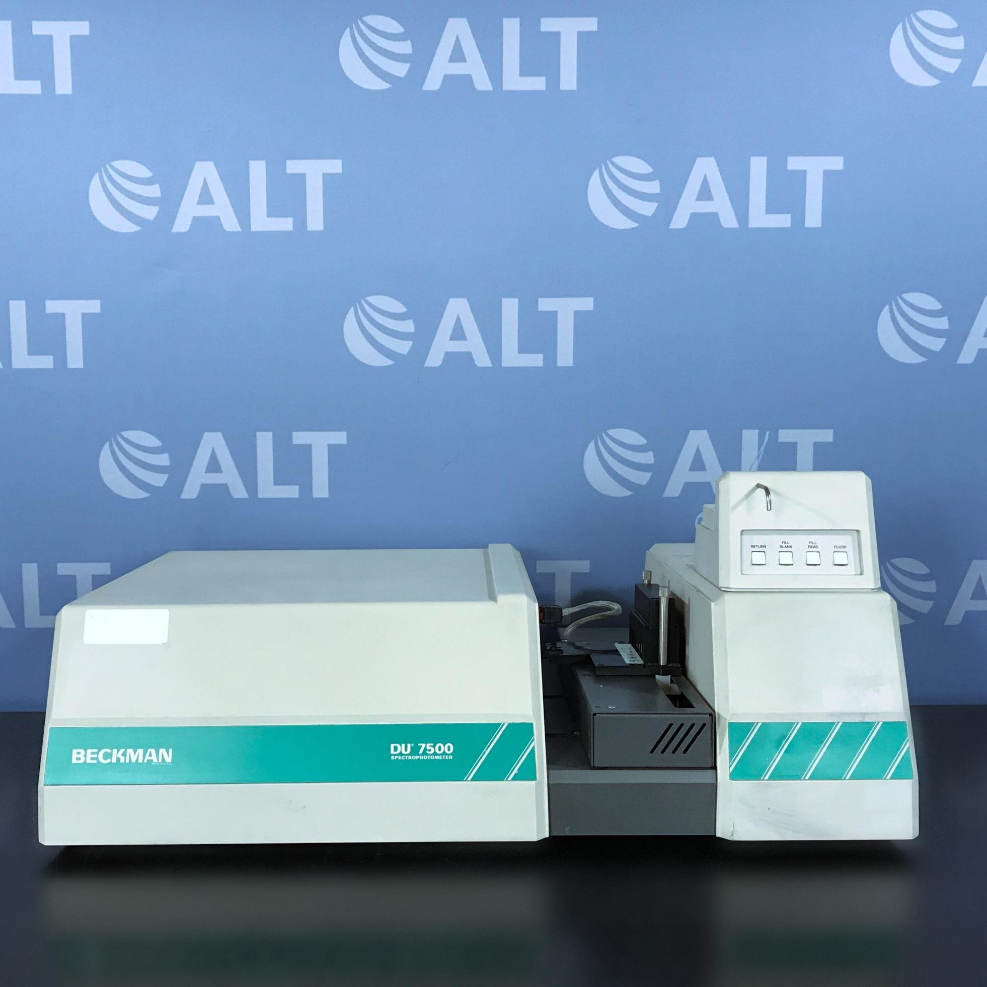 DU-7500 Spectrophotometer Name