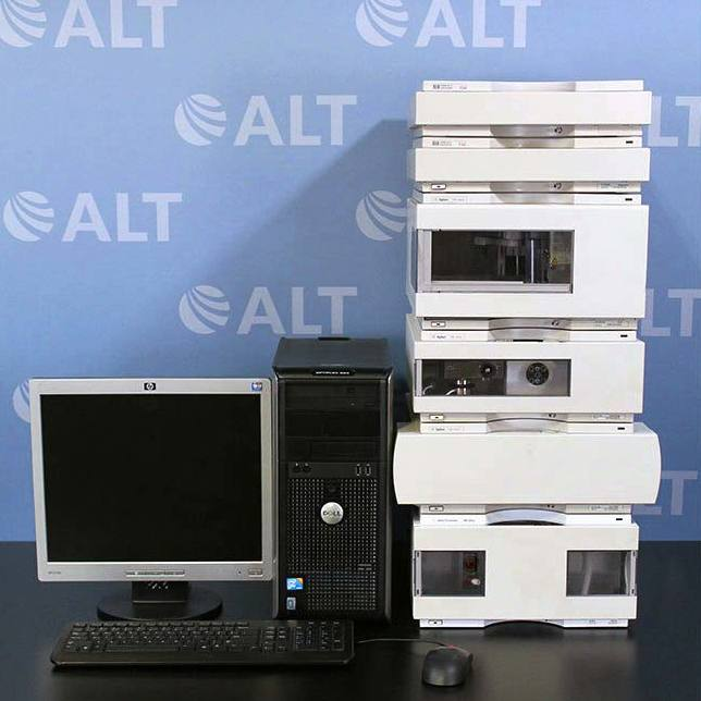 Agilent 1100 Series HPLC System with G1362A RID and G1311A Quat Pump Image