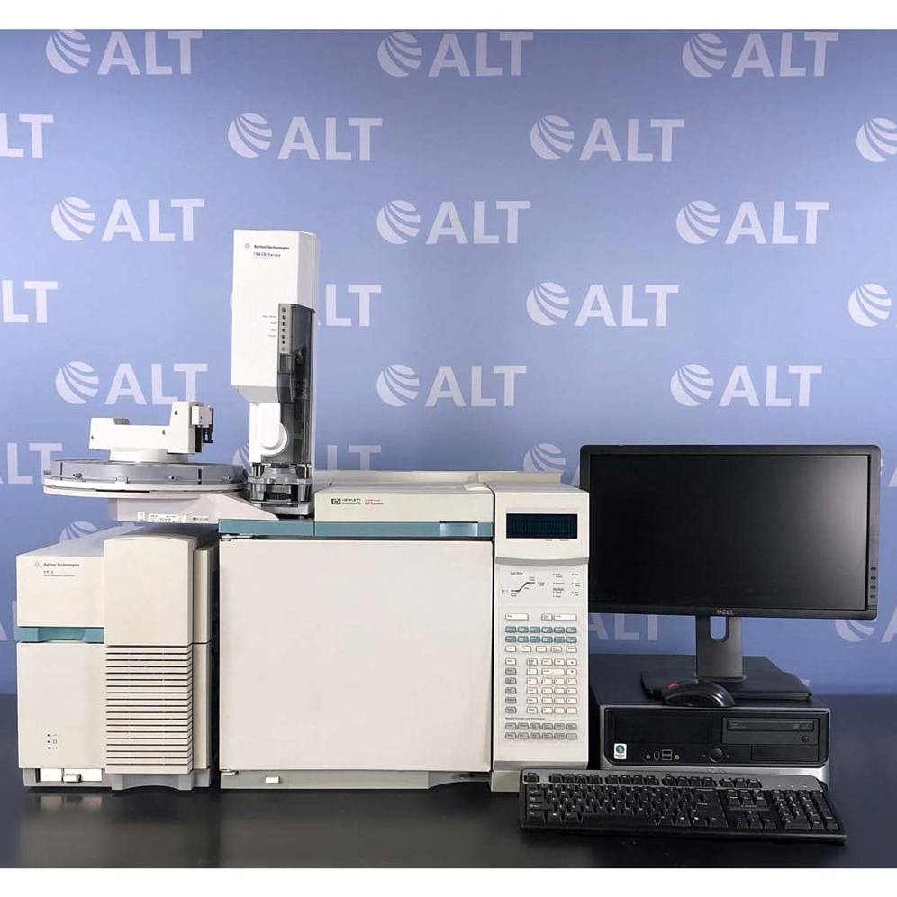 Hewlett Packard 6890 Series (G1530A) GC System with 5973 MSD, 7683 Injector & 7683 Autosampler Image