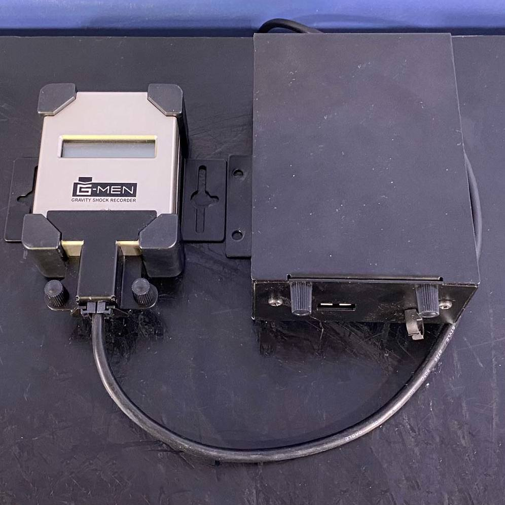 G-MEN Gravity Shock Recorder, Model DR20 Name