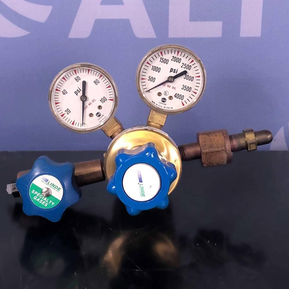 Linde Model UPE 3 75 346 High Gas Brass Regulator Image