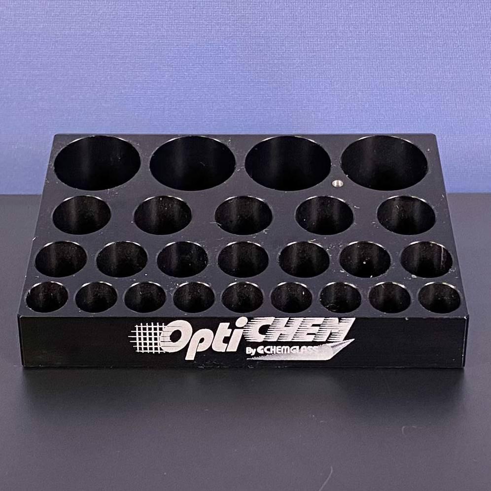 Chemglass OPTICHEM 25-Position Block, Multi-Vial, P/N OP-6600-90 Image