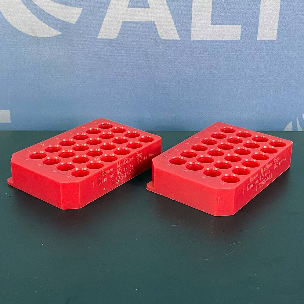 24 Position 15x45 and 15x82 mm MiniBlock Racks 13260443 (Set of 2 Red) Name