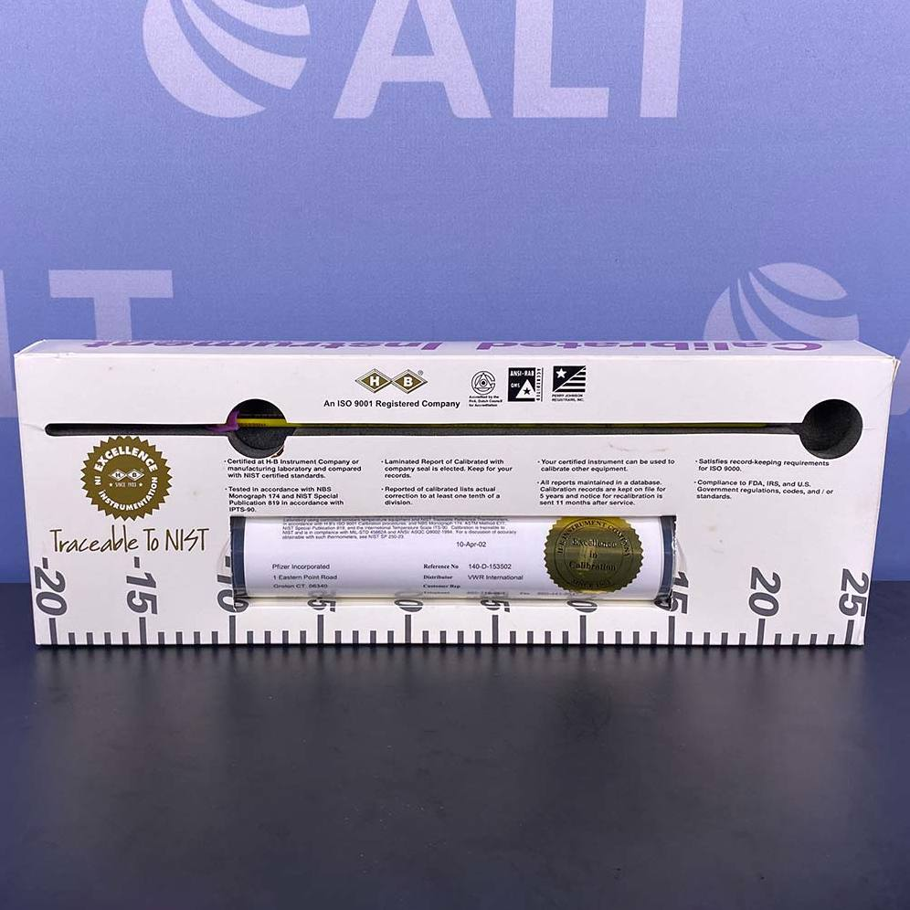 VWR Certified Thermometer, -20C to 110C, 300mm Image