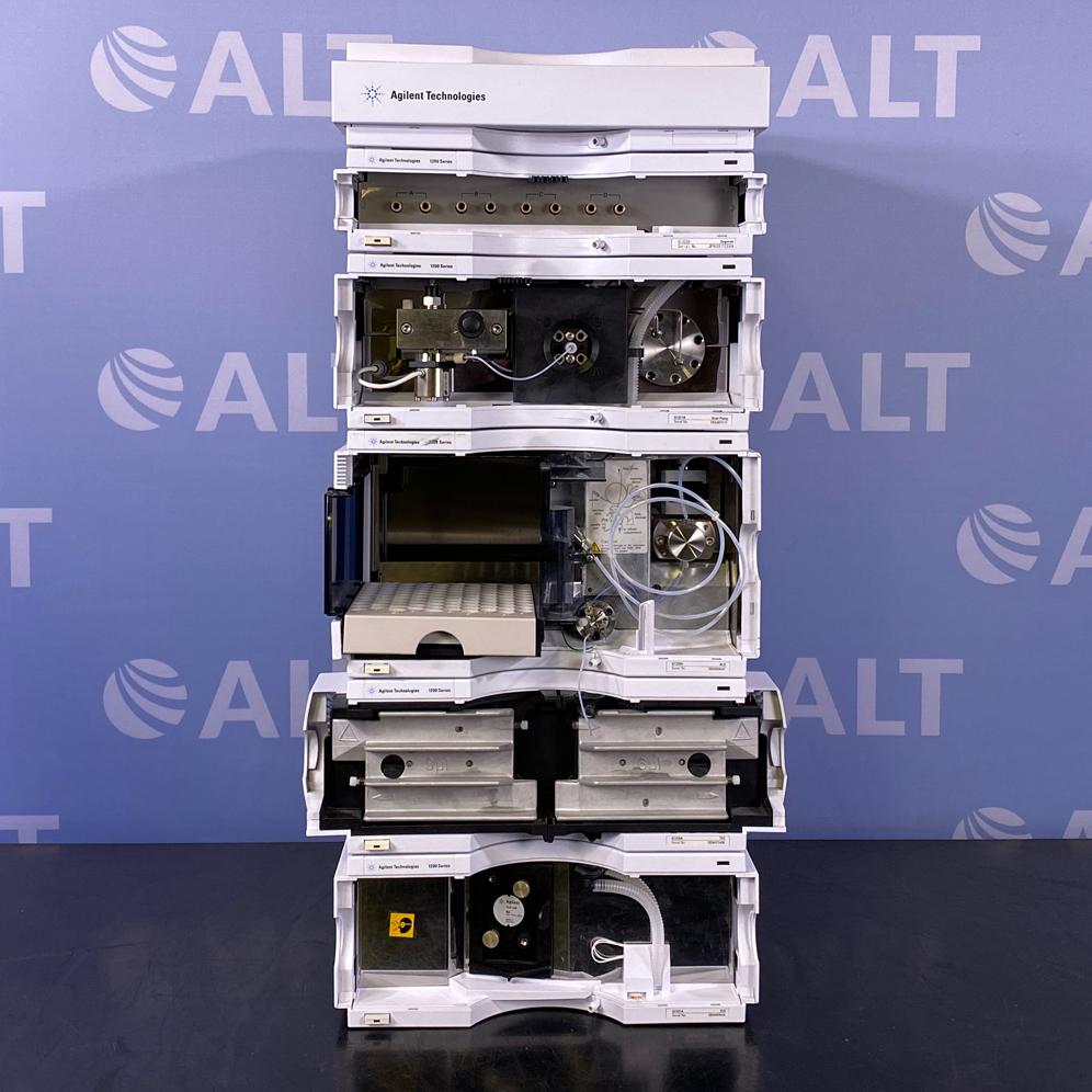 Agilent 1200 Series HPLC System with G1314B VWD, G1311A Quaternary Pump, G1329A Autosampler Image