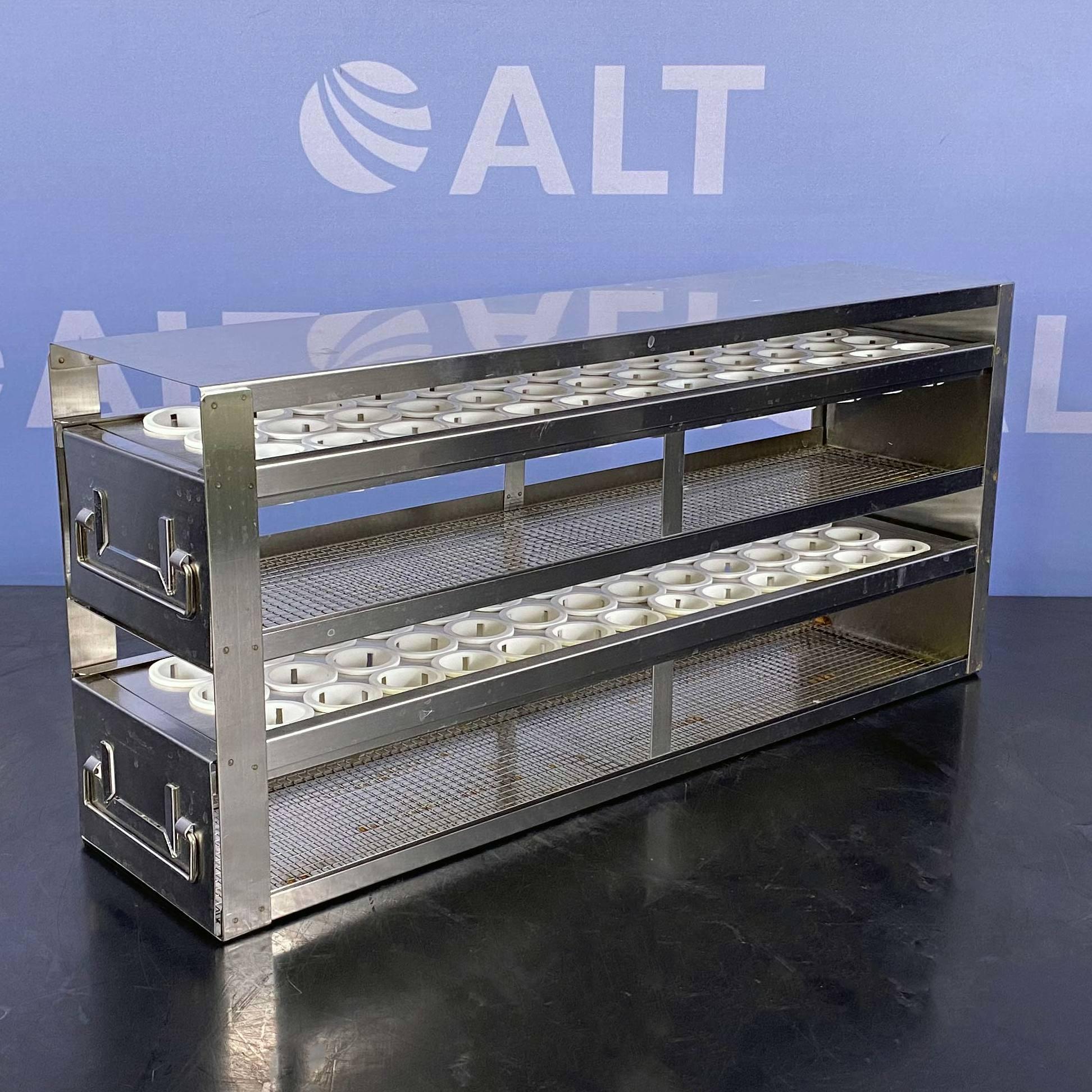 PolarSafe Upright Freezer Drawer Rack for 50 mL Centrifuge Tubes; 2 Drawers, Holds 78 Tubes Name