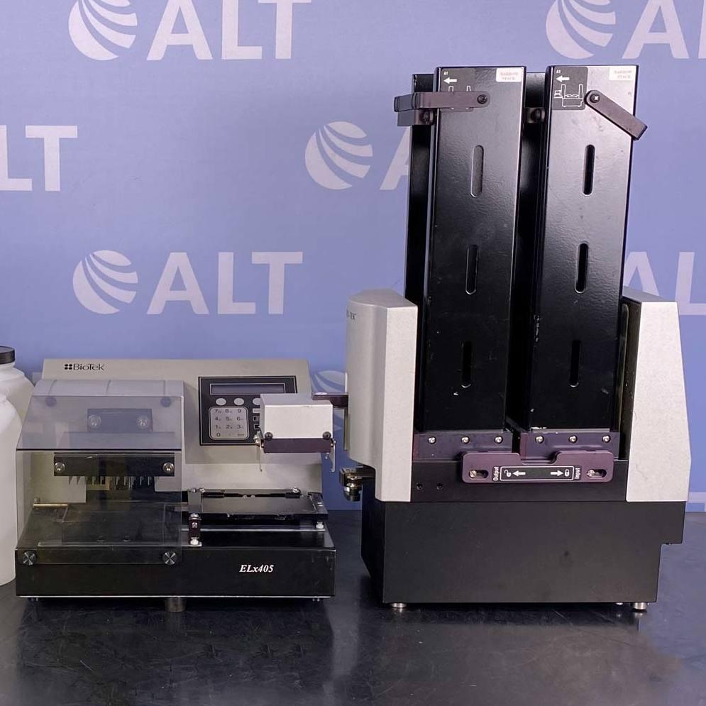 BioTek ELx405R Microplate Washer with Biostak Plate Stacker Image