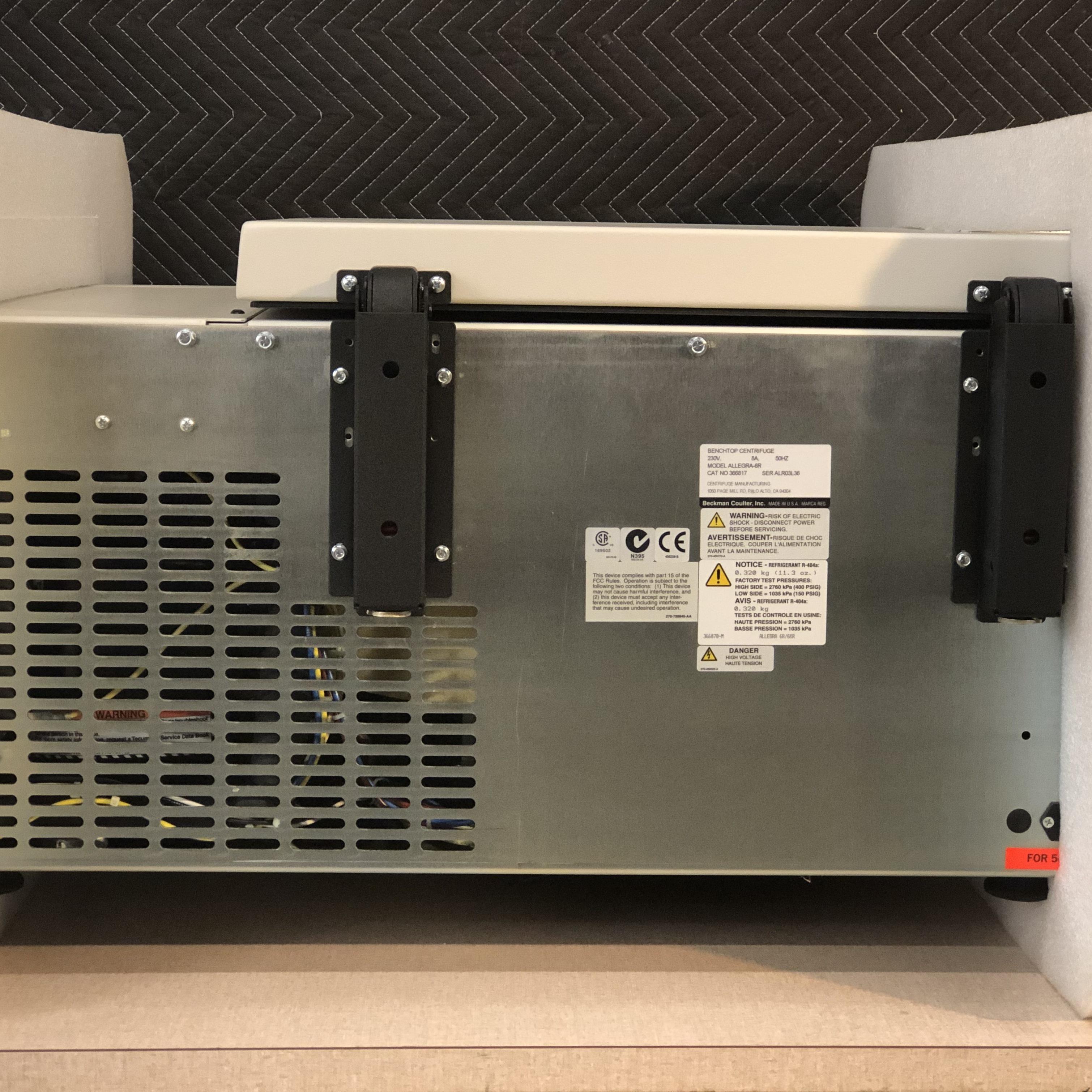 Beckman Coulter Allegra 6R Refrigerated Benchtop Centrifuge 230 V 50 Hz Image