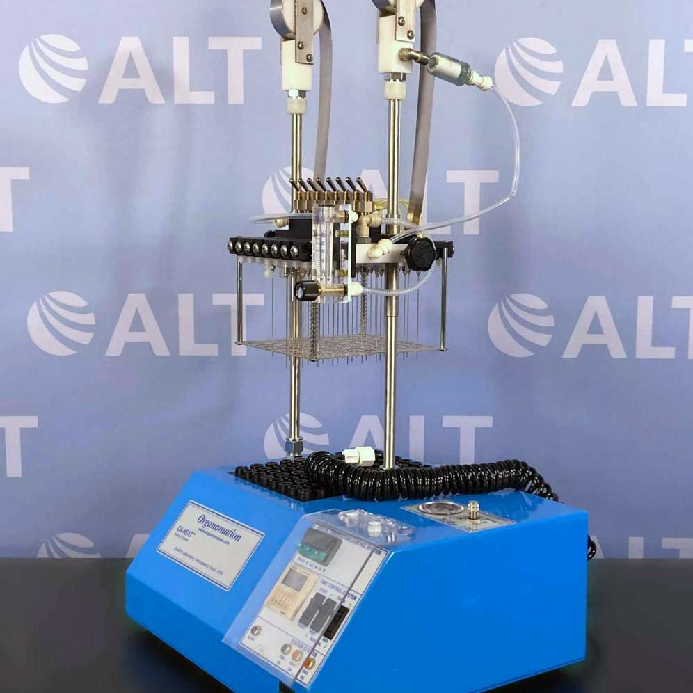 Organomation Associates OA-Heat 80 Position MULTIVAP Nitrogen Evaporator, Model 6166 Image