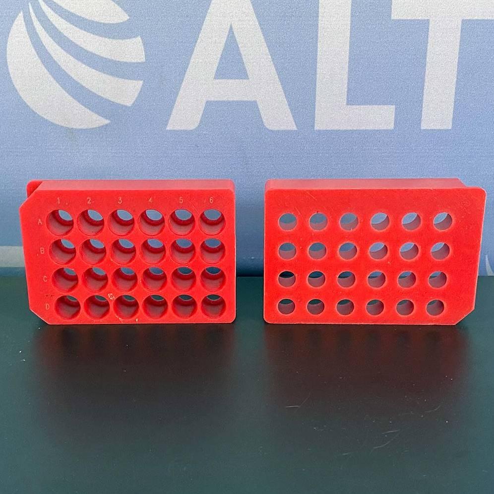 Mettler Toledo 24 Position 15x45 and 15x82 mm MiniBlock Racks 13260443 (Set of 2 Red) Image