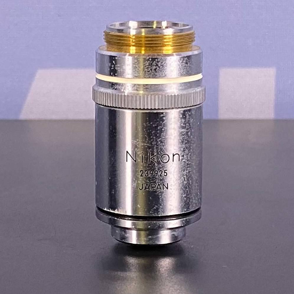 Nikon Plan 100 1.25 Oil Microscope Objective, 160/0.17 Image