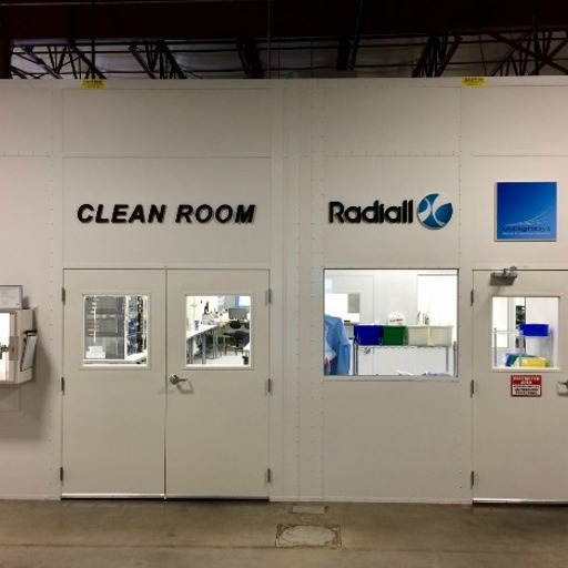 Radiall USA Inc. 1000 sq. ft. Clean Room Image